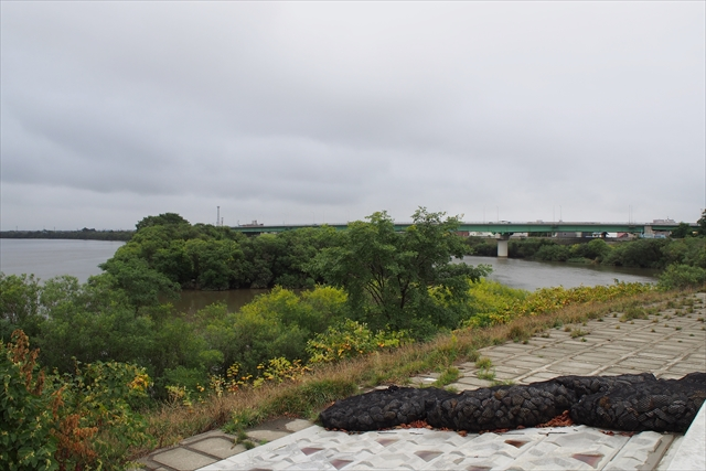 石狩川と千歳川の合流地点