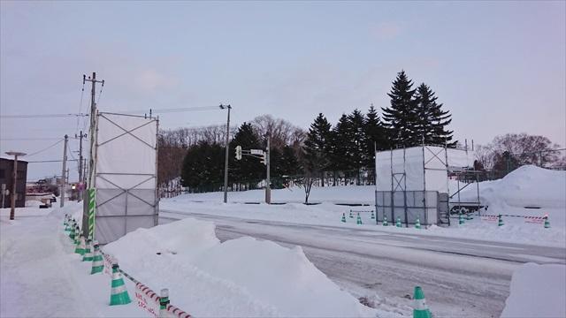 江別横断歩道橋撤去後