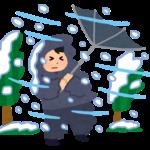 暴風雪・吹雪の天気