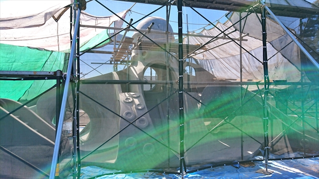 タコの滑り台改修工事(正面)