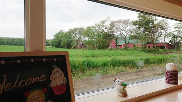 小林牧場おかしなソフトクリーム工房 店内カウンターからの眺め