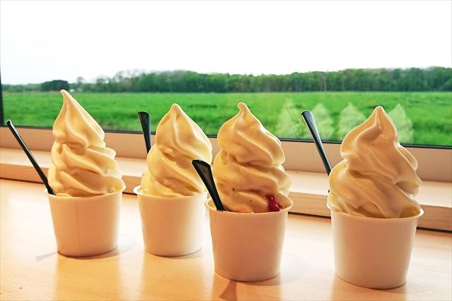 小林牧場ソフトクリーム工房 ソフトクリーム4種類