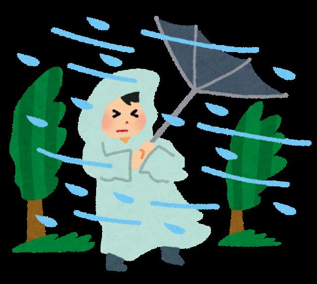 大荒れの天気 暴風雨