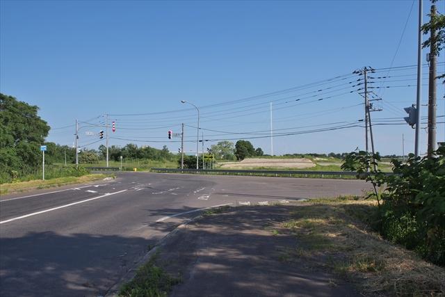 国道337号 江別東インターチェンジ付近