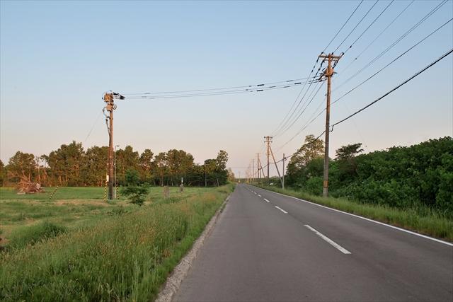 STV札幌ラジオ送信所前の道路