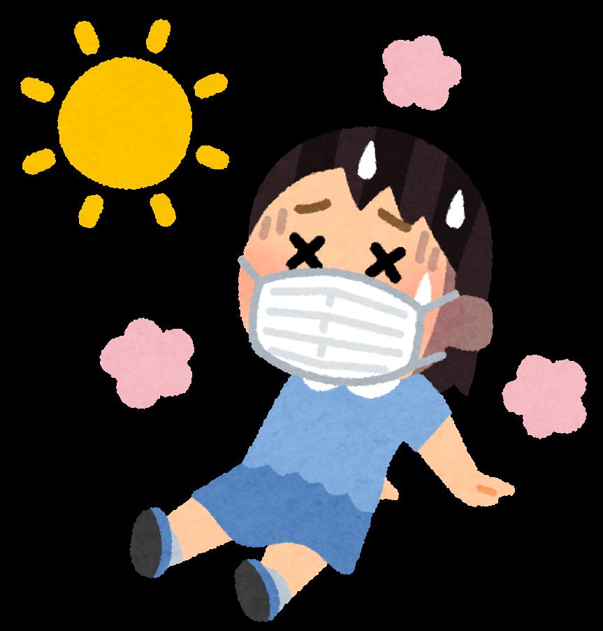 暑さで熱中症